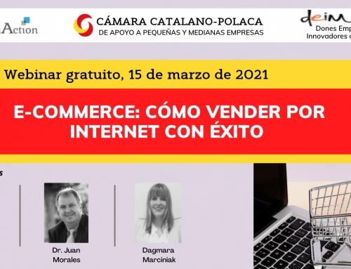 Webinar gratuït · E-commerce: Cómo vender por Internet con éxito