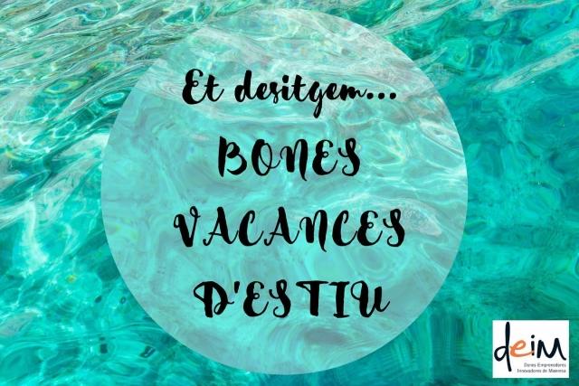 Bones vacances a tothom 💥  Tornarem al setembre amb les ganes i la il·lusió de sempre!   #donesemprenedores #manresa